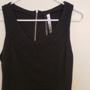 Kensie black lace mini-dress